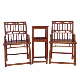 Chinese Antique Southern Official's Hat Armchairs (set)
