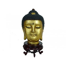 Chinese Antique Gilt Metal Buddha Head
